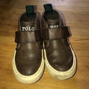 Ralph Lauren Polo brown leather toddler boots 7